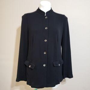 J.jill Wool Military Jacket | Black | Size Large